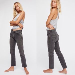 NWT Levi's Cropped 550 c Black Distressed Jeans 31